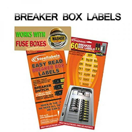 Easy Read Breaker Box Decals. Tough vinyl labels for Circuit Breakers, great for Home Owners, Apartment Complexes and Electricians. Place stickers directly on the breaker switch, makes identifying the