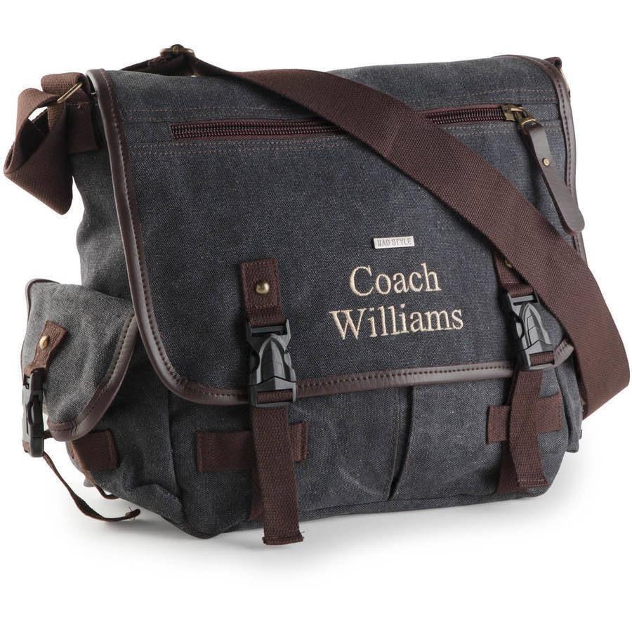 Personalized Or Monogram Men's Messenger Bag