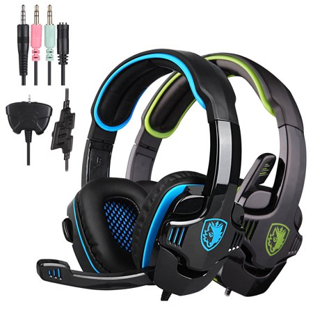 SADES SA-708 GT Stereo HiFi Gaming Headset Headphone with Microphone for PS4 Xbox360 PC Mac iPhone SmartPhone