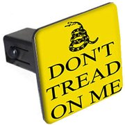 "Gadsden Don't Tread On Me 1.25"" Tow Trailer Hitch Cover Plug Insert"