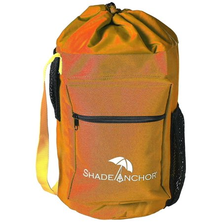 Shade Anchor Bag Beach Umbrella Sand Anchor – Works with Any Beach Umbrella on Any Type of Sand (Umbrella not Included) - Orange ()