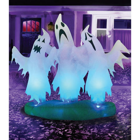 Floating 3 Ghosts 6' Halloween Inflatable - Halloween Them