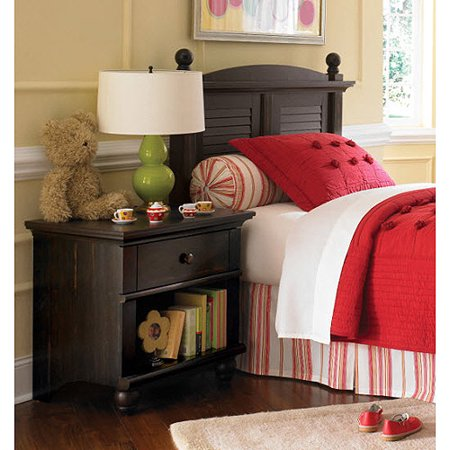 Sauder Harbor View Collection Twin Headboard and Nightstand Set, Antiqued Paint