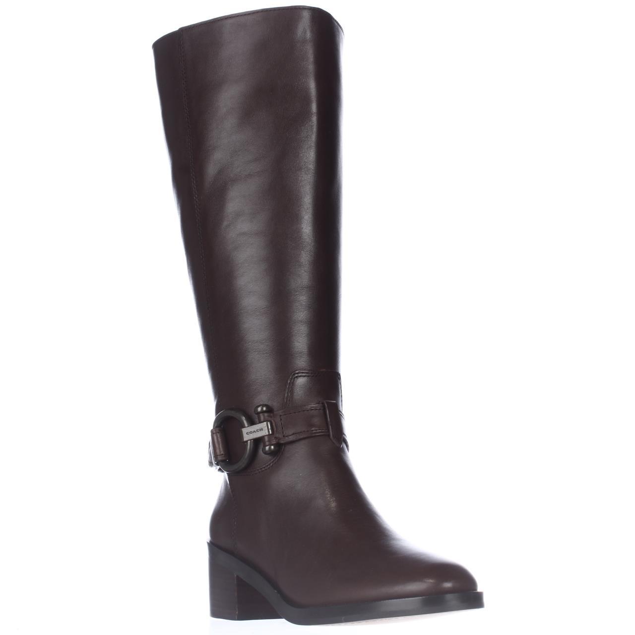 Womens Coach Carolina Wide Calf Knee High Fashion Boots -...