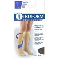 Truform Knee-High Closed Toe Stockings, 20-30 mmHg, XL, Black