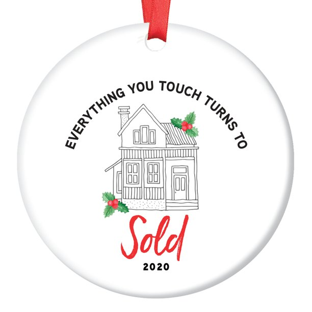 2020-22 Outdoor Christmas Gift Ideas Real Estate Agent 2020 Ornament Christmas Gift Idea Homeowner