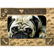 Giftworks Plus WHS0001 We Heart Our Dog, Alder Wood Frame, 3.5 x 5 In