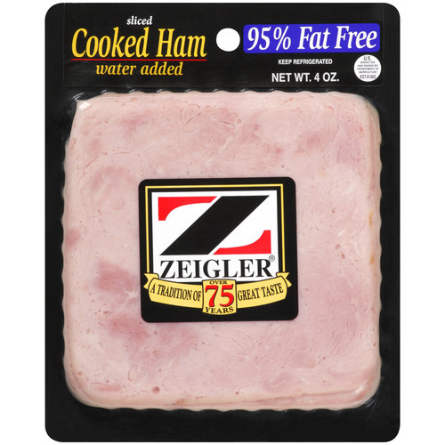 Zeigler Cooked Sliced Ham, 4 oz