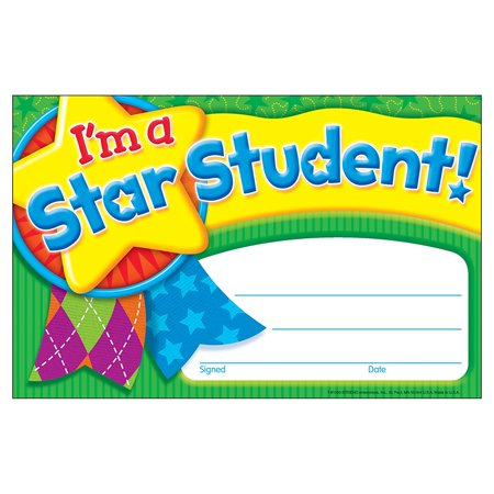 I'm A Star Student (Star Medal) Recognition Awards, 30 per Package (T-81050), Easy to customize to each occasion and child. By Trend - Customized Medals