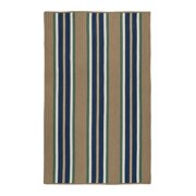5' x 8' Brown and Blue Striped Braided Rectangular Area Throw Rug