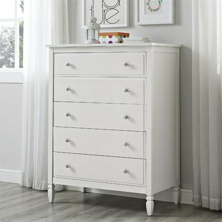 Dorel Living Vivienne 5 Drawer Chest in White ()
