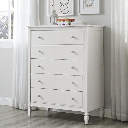 Dorel Living Vivienne 5 Drawer Chest in White