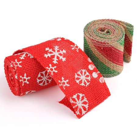 Boyijia 6cm 2m DIY Handmade Colorful Linen Roll Belt Strap Band Handcraft Party Decorative Supplies - image 5 of 9