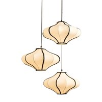 Jennifer Taylor Home Soissons 3 Pendant Glass Hanging Lamp