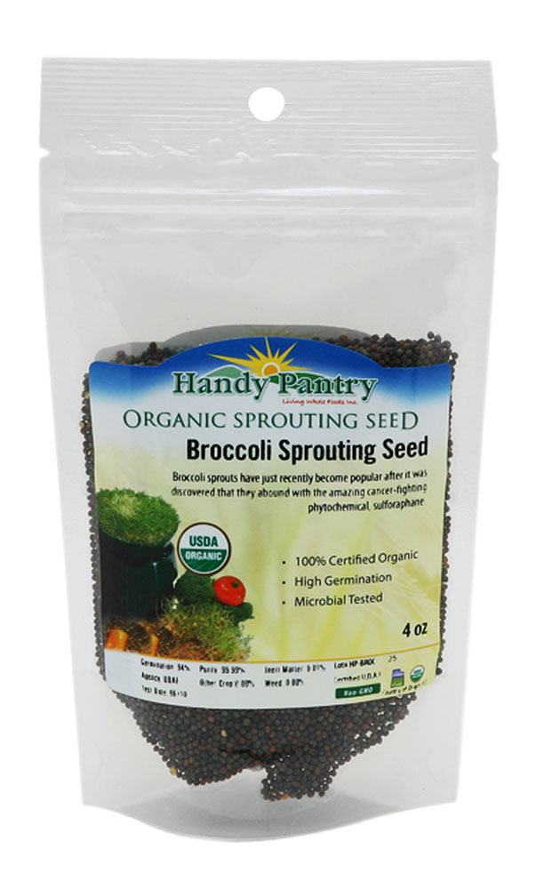 Handy Pantry Broccoli Sprouting Seeds 4oz by Handy Pantry
