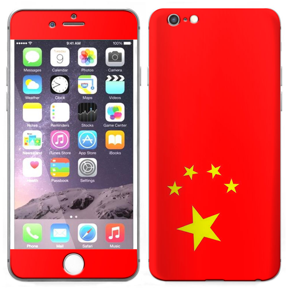 Skin Decal for Apple iPhone 6 Plus Chinese Flag by Trek Media Group