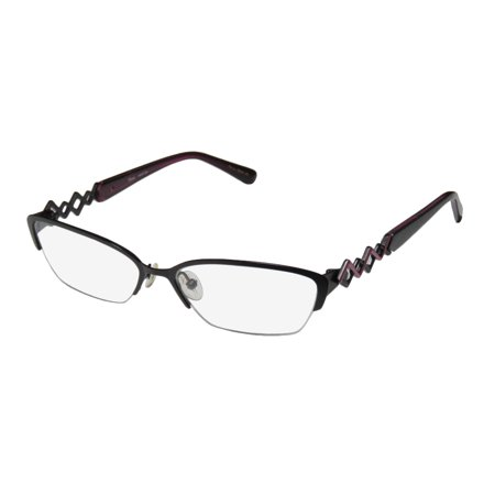 New Thalia Maritza Womens/Ladies Designer Half-Rim Black / Violet Half-rimless Adult Size Trendy Frame Demo Lenses 51-15-135 Eyeglasses/Glasses