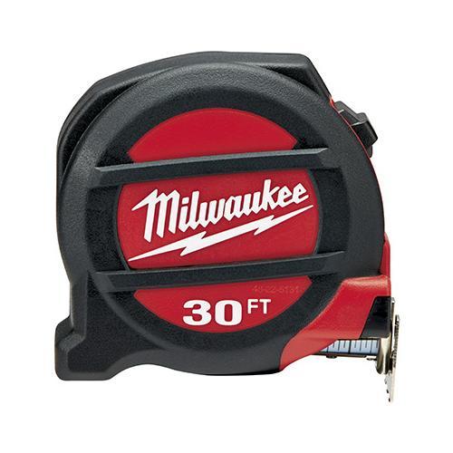 MILWAUKEE ELEC TOOL Tape Measure, Magnetic, 30-Ft..