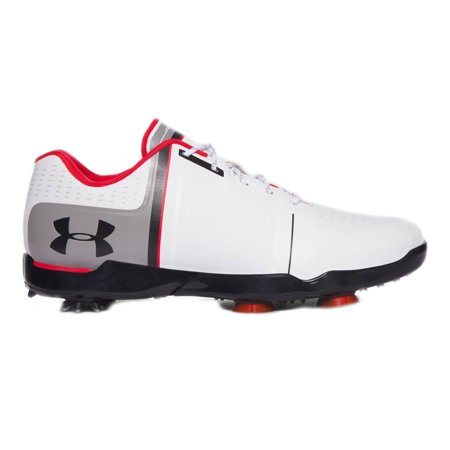 NEW Under Armour Jordan Spieth One Junior White/Red/Black Golf Shoes Kids Size 7 ()