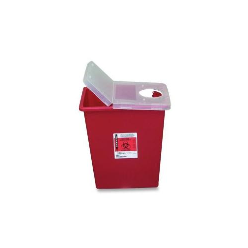 UNIMED MIDWEST INC Biohazard Sharps Container WHinged LidRotor