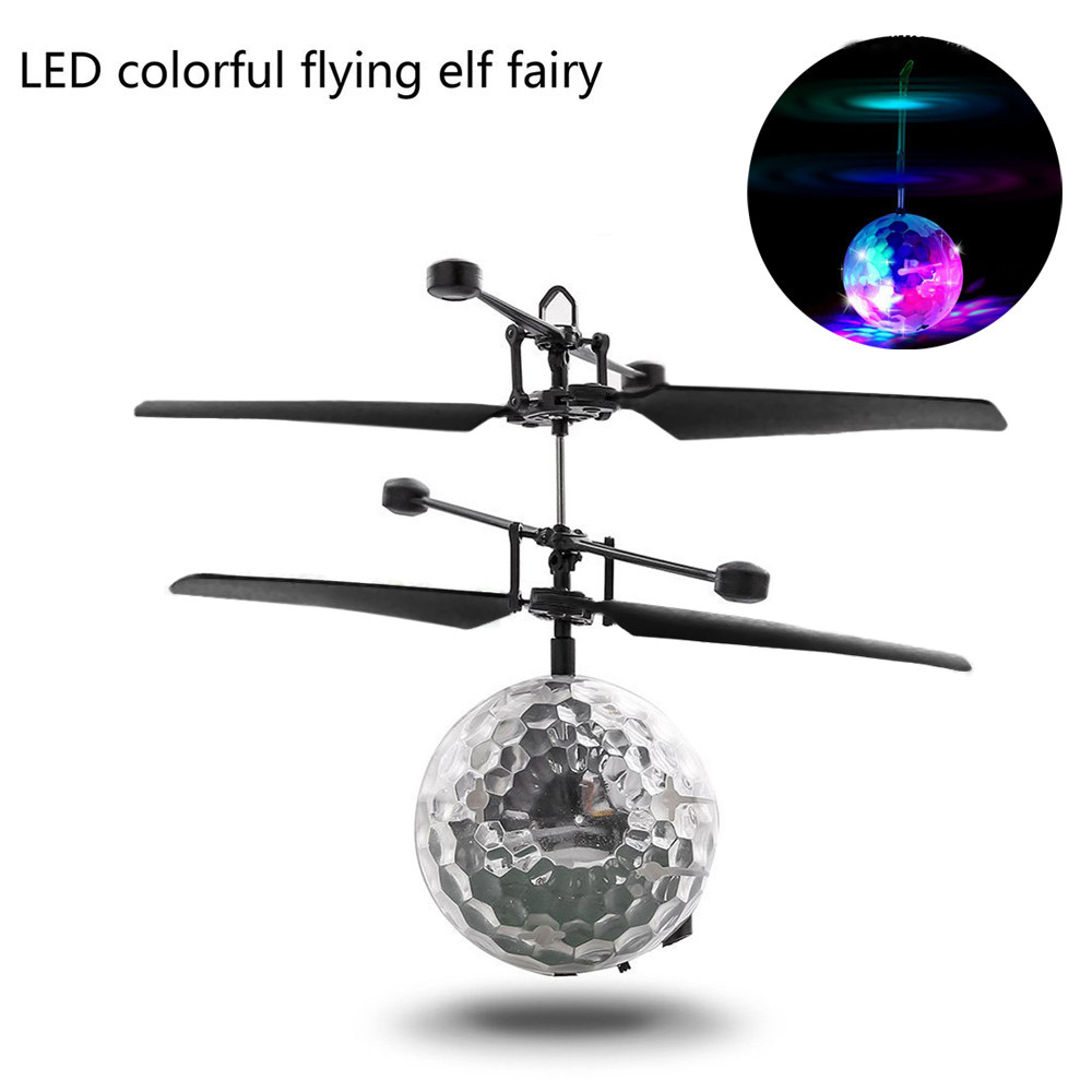 Mallroom RC Flying Ball Drone Helicopter Ball Built-in Shinning LED Lighting for Kids Toy