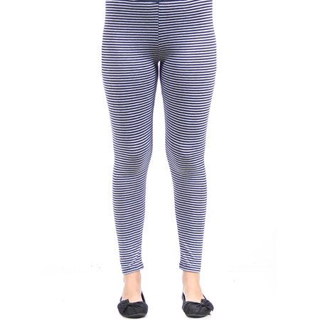 Women's Navy/Grey Stripped Leggings