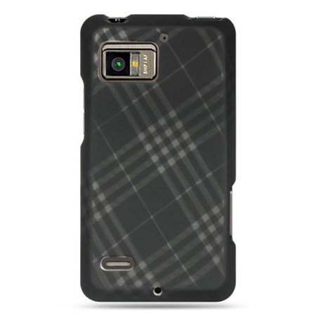 Insten Checker Rubberized Hard Snap-in Case Cover For Motorola Droid Bionic XT875, (Gray Checkered Snap)