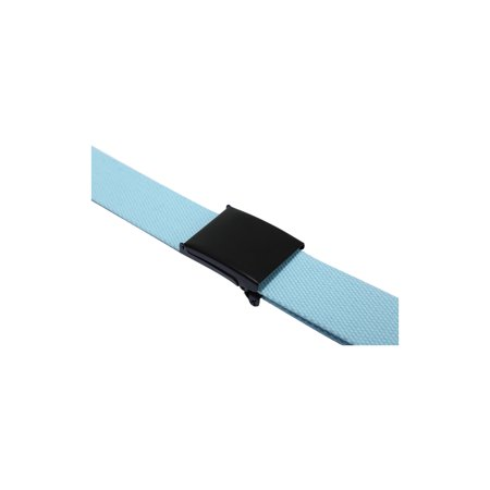 "Unique Bargains Unisex Slide Buckle Canvas No Holes Adjustable Waist Belt Width 1 5/8"" & 1 1/2"" - image 1 de 5"