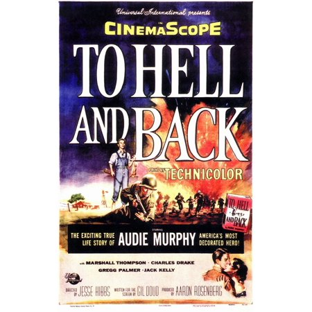 - To Hell and Back (1955) 11x17 Movie Poster