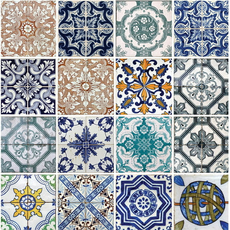 Thirstystone Occasions Drink Coasters, Lisbon Tiles
