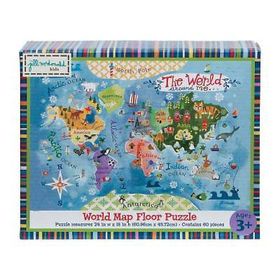 Gibby & Libby World Map Floor Puzzle 1 Piece(s)