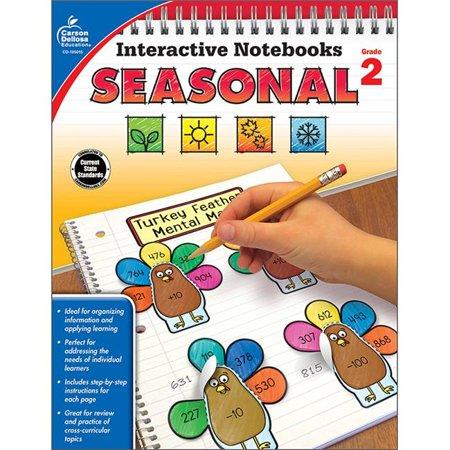 Carson Dellosa CD-105015 Interactive Notebooks Seasonal Resource Book - Grade 2