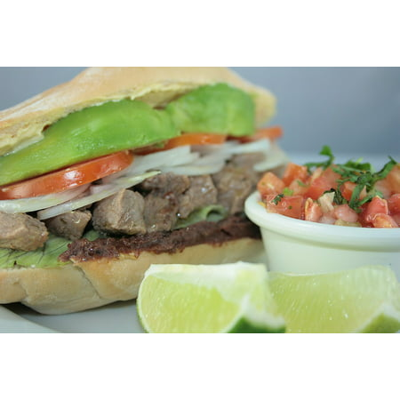 Canvas Print Beef Cake Avocado Mexican Food Stretched Canvas 10 x 14