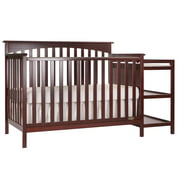 Dream On Me Chloe 5-in-1 Convertible Crib and Changer, Cherry
