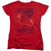 Mighy Mouse Break The Box Womens Short Sleeve Shirt