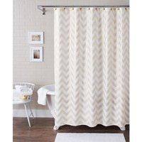 Product Image Better Homes And Gardens Metallic Chevron Fabric 13 Piece Shower Curtain Set