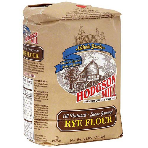 Hodgson Mill Rye Mill Flour, 5 lb (Pack of 6)