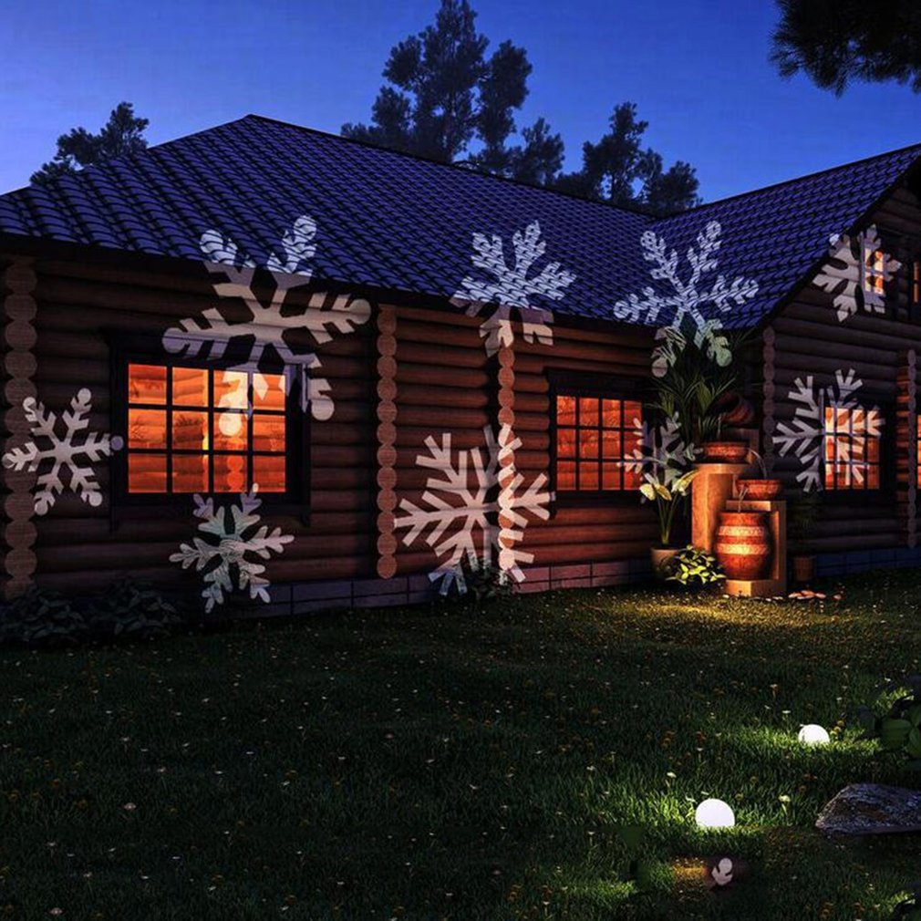 Laser Snowflake Projector Lamp Outdoor Waterproof LED Lights Stage Light Christmas Holiday Decoration For Home Garden