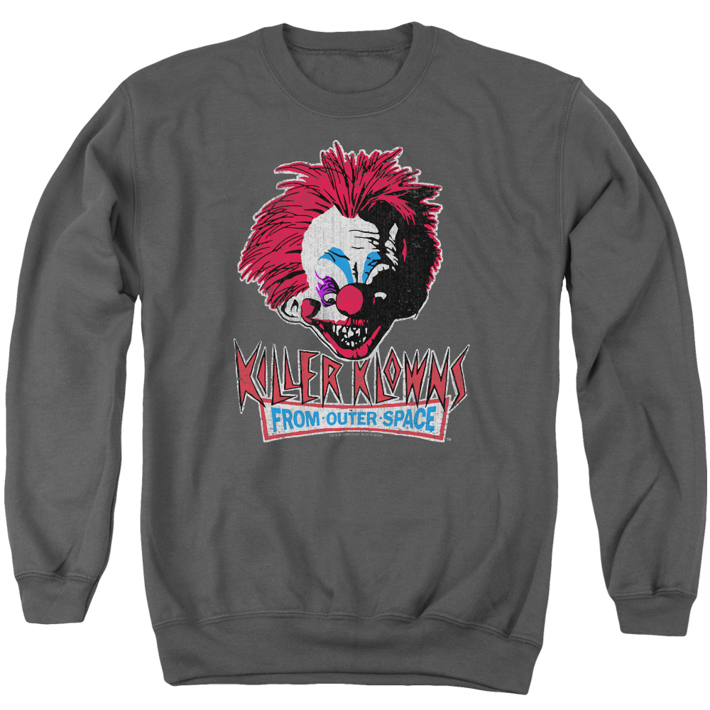 Killer Klowns From Outer Space Rough Clown Mens Crewneck Sweatshirt