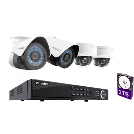 Laview Ip 1080p Hd 4 Cameras 4ch Nvr Home Video Security