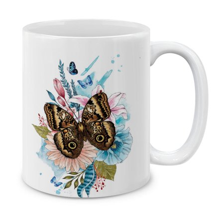 Pansy Vine - MUGBREW 11 Oz Ceramic Tea Cup Coffee Mug, Forest Giant Owl Butterfly Flower