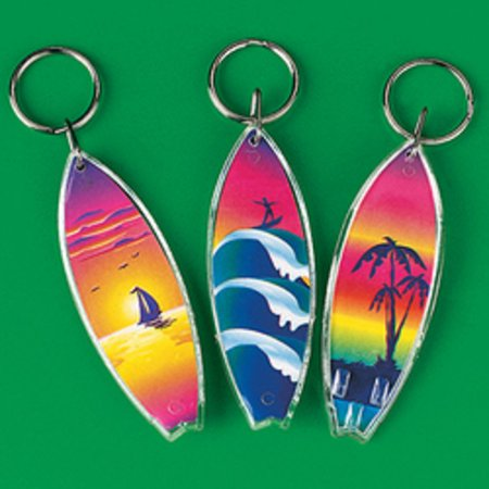 Lot of 12 Surfboard Keychains Luau Pool Party Favors (Luau Parties)