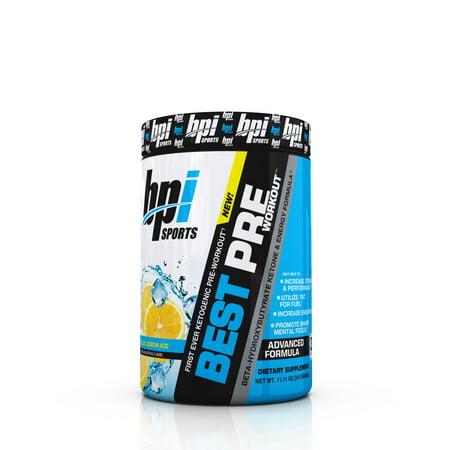 BPI Sports Best Pre Workout Pre Workout Blue Lemon Ice, 30 (The Best Pre Workout Supplement 2019)