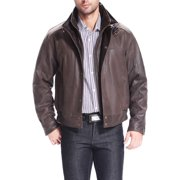 "BGSD Men's ""Tyler"" Distressed Leather Bomber Jacket"