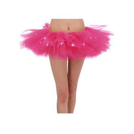 Light up Tutu LED Light Up Running Costume Glow Night 5K Run Tutu Skirt, Rose](Led Running)