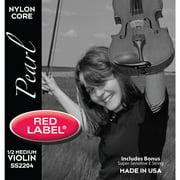 Super-Sensitive Red Label Pearl Violin String Set w/ Bonus E String, 1/2 Size
