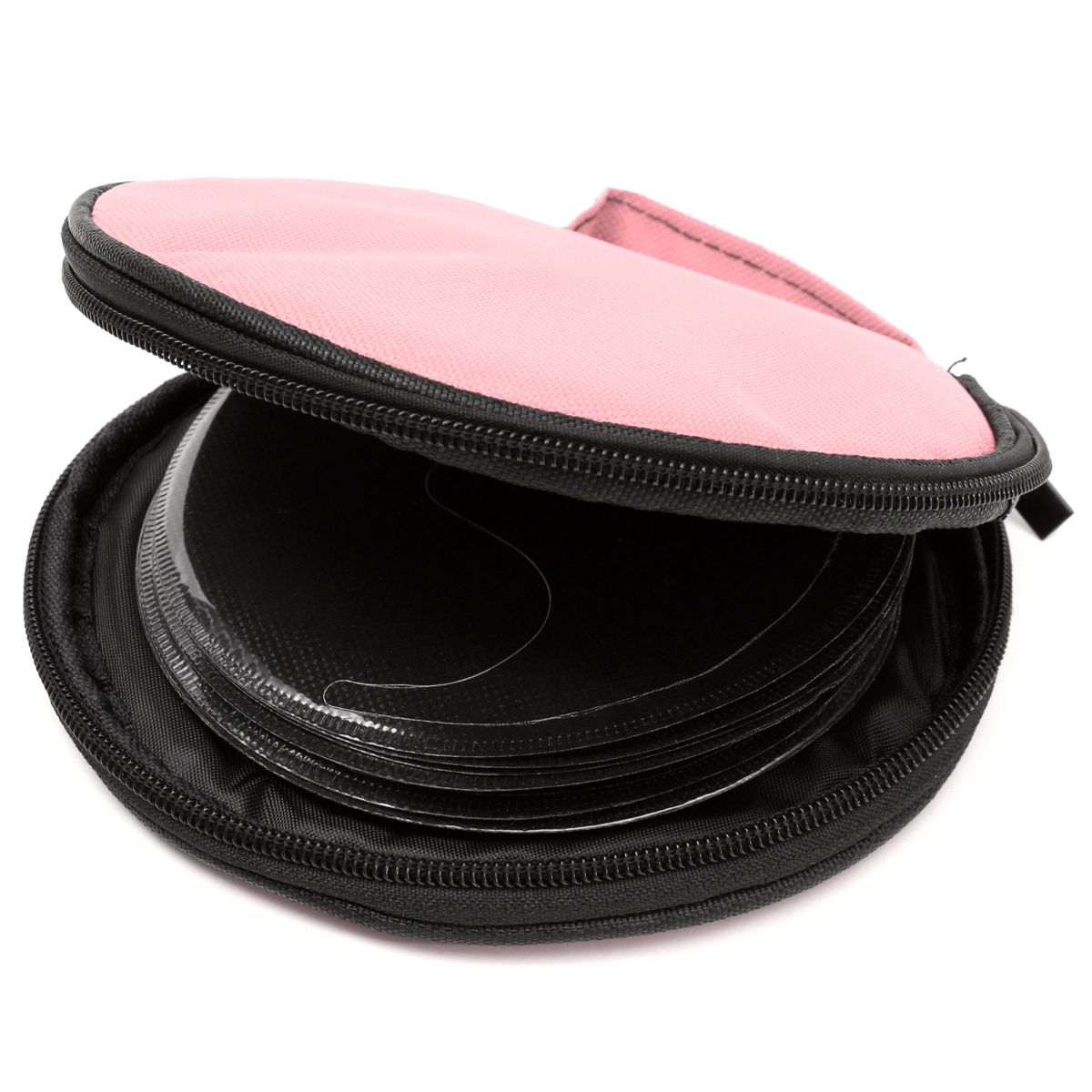 Portable CD DVD DISC Clear Cover Storage Case Wallet Bag Organizer Holder Packs with Handle Hold 20 pcs cd/vcd/dvd