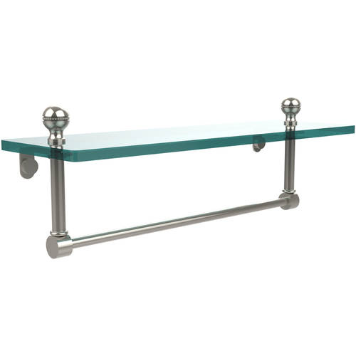"""Mambo 16"""" Glass Vanity Shelf with Integrated Towel Bar (Build to Order)"""