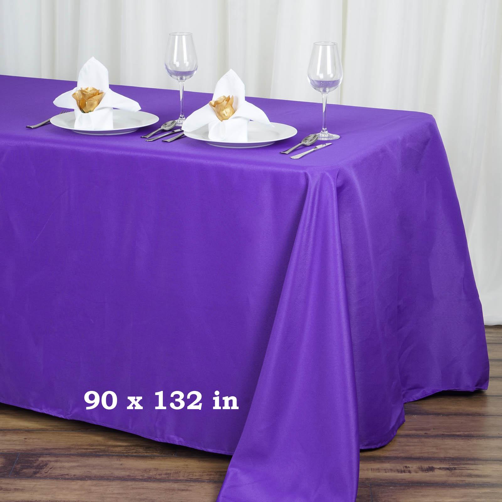 "BalsaCircle 90"" x 132"" Rectangular Polyester Tablecloth for Party Wedding... by BalsaCircle"