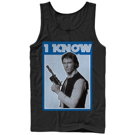 Star Wars Men's Han Solo Quote I Know Tank Top